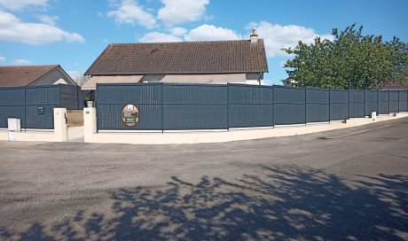Pose de clôture à Toulon sur Allier