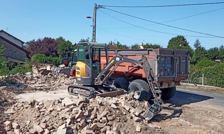 démolition et évacuation