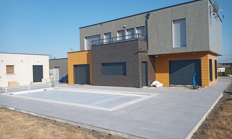 terrasse sur plots 250m²